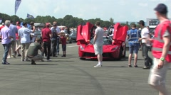 La Ferrari crowd shot Stock Footage