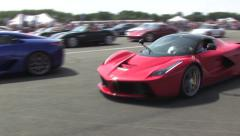 La Ferrari driving up to camera Stock Footage