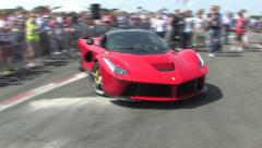 La Ferrari driving Stock Footage