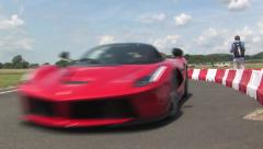 La Ferrari in pitlane Stock Footage