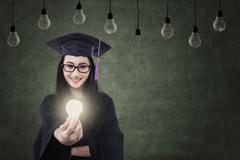 bachelor offers creative idea - stock illustration