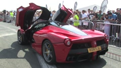 La Ferrari side view Stock Footage