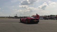 La Ferrari start Stock Footage