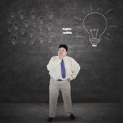 Stock Illustration of businessman analyze solution