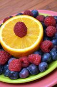Superfood Antioxidant Fruit Plate - stock photo