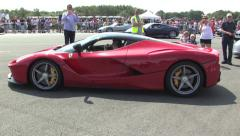 La Ferrari with Chris Evans Stock Footage