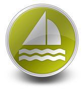 icon, button, pictogram sailing - stock illustration