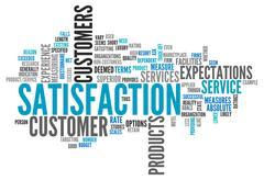 word cloud satisfaction - stock illustration