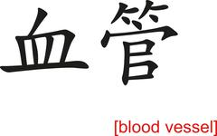 Stock Illustration of Chinese Sign for blood vessel