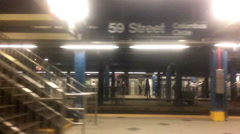 Slow Motion Leaving Columbus Circle Subway Station - stock footage