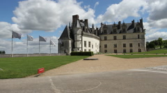Exterior of Amboise Chateau France Stock Footage