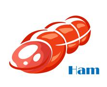 tasty ham meat - stock illustration