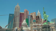 Stock Video Footage of Las Vegas New York New York roller coaster