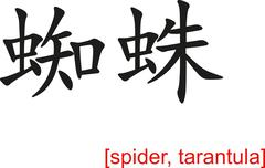 Chinese Sign for spider, tarantula - stock illustration