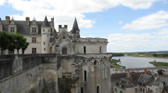 Amboise Chateau and River Loire Amboise France Stock Footage