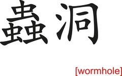 Chinese Sign for wormhole - stock illustration