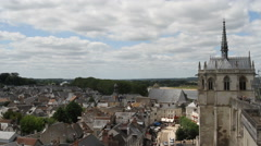 St Hubert's Chapel Chateau d'Amboise France Stock Footage