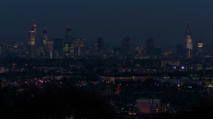 London skyline at night time lapse 02. HD version - stock footage