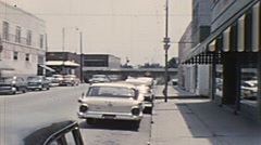 Downtown street scene--From 1950's movie film Stock Footage