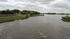 River Loire viewed from Bridge Amboise France Stock Footage