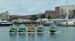 Taxi boat ferries Stock Footage
