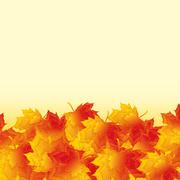 Autumn background with golden maple leaves Stock Illustration