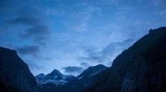 Grossglockner sunrise time lapse, Austria Stock Footage