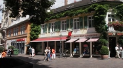 Old Baden-Baden street Stock Footage