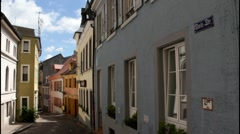 Old historic street. Baden-Baden. Germany Stock Footage
