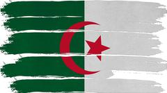 algeria flag horizontal paint texture - stock illustration