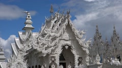 Wat Rong Khun temple Stock Footage
