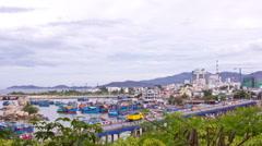 Nha Trang fishing boats. Nha Trang, Vietnam. Time lapse. Stock Footage