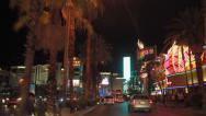 Stock Video Footage of Las Vegas strip at night driving POV shot