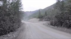 Riding Along Road Of Bones in Russia Stock Footage