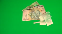 Drugs On A Green Screen, Chroma, Key, Addiction, Bad Habit, Money, Pan Stock Footage