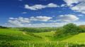 Summer nature landscape, green hills of Tuscany, Italy, time-lapse. HD Footage