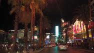 Stock Video Footage of Las Vegas strip at night driving POV shot 4k