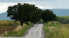 Asphalt Road in Rural Area 1 summer Stock Footage
