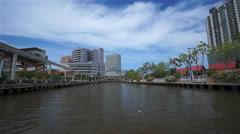 Melaka canal boat ride, speed-lapse Stock Footage