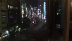 People traffic buildings nightlife Shibuya Tokyo Japan Asia Stock Footage