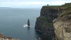 View from the Cliffs of Moher Stock Footage