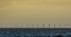 4K, wind energy plant, windmills Stock Footage