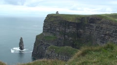 Cliffs of Moher with Castle Stock Footage