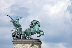 Heroes' square budapest landmark hungary Stock Photos