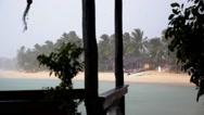 Stock Video Footage of Rain on Tropical Island. Bad Weather on Holidays.