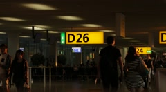 Departure Lounge @ Amsterdam Airport Schiphol Stock Footage