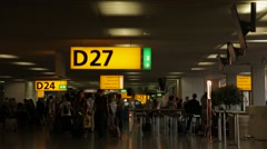 Departure Lounge at Amsterdam Airport Schiphol Stock Footage