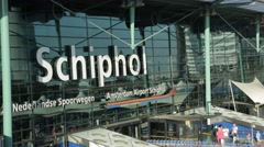 Schiphol Airport Sign Stock Footage