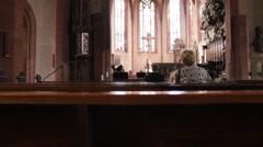 Catholic church.  Katholisch Stiftskirche. Baden-Baden.Germany Stock Footage