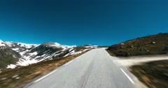 4k scenic drive, auerland hornsvatnet norway Stock Footage